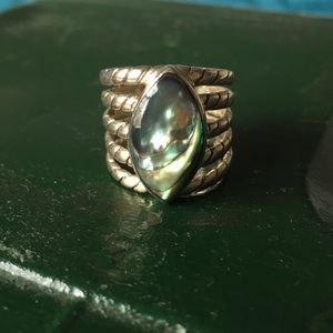 Sterling silver and Abalone ring